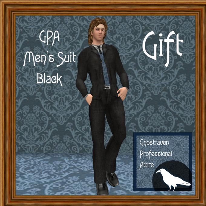 GPA Men's Suit Black Ad