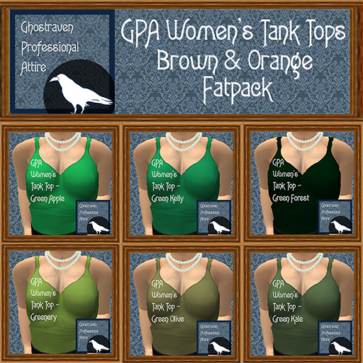 GPA Womens Tank Tops Fatpack - Green 512