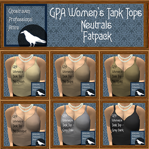GPA Womens Tank Tops Fatpack - Neutrals 512