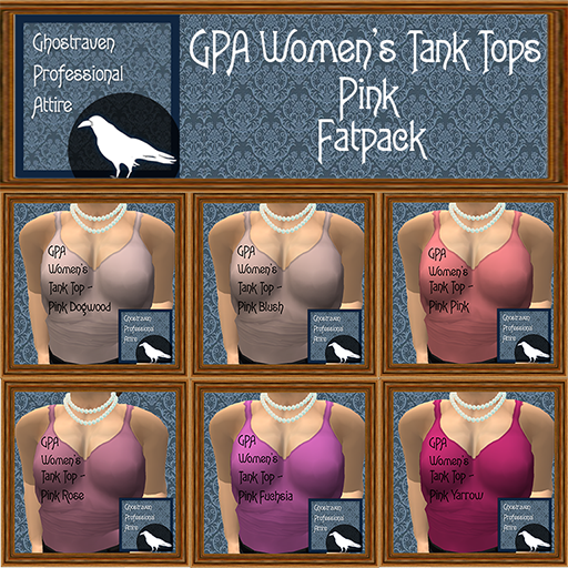 GPA Womens Tank Tops Fatpack - Pink 512