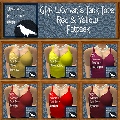 GPA Womens Tank Tops Fatpack - Red and Yellow 512