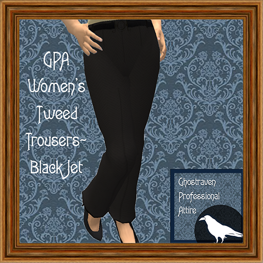 GPA Women's Trousers Tweed Black Jet Ad 512