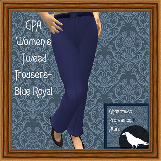 GPA Women's Trousers Tweed Blue Royal Ad 512