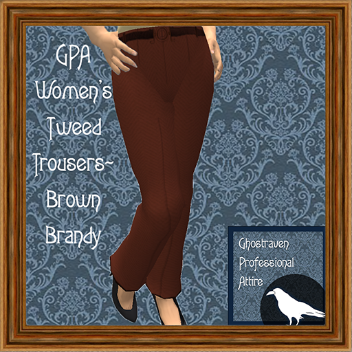 GPA Women's Trousers Tweed Brown Brandy Ad 512