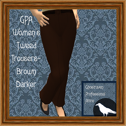 GPA Women's Trousers Tweed Brown Darker Ad 512