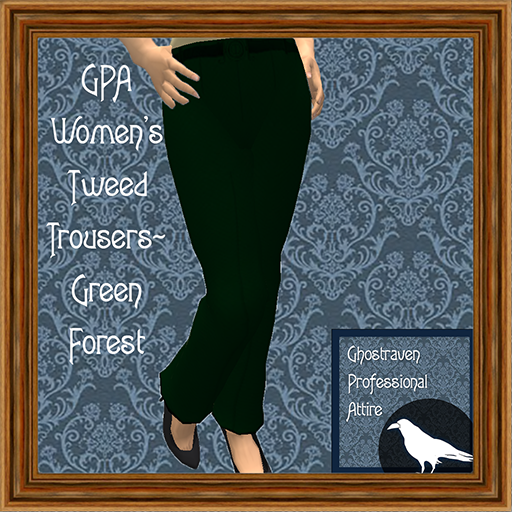 GPA Women's Trousers Tweed Green Forest Ad 512
