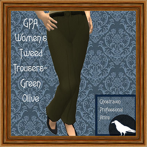 GPA Women's Trousers Tweed Green Olive Ad 512