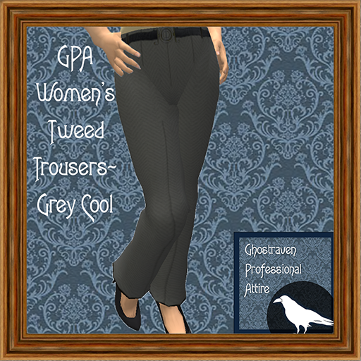 GPA Women's Trousers Tweed Grey Cool Ad 512