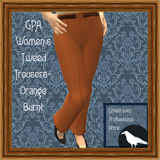 GPA Women's Trousers Tweed Orange Burnt Ad 512