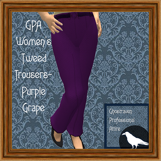 GPA Women's Trousers Tweed Purple Grape Ad 512