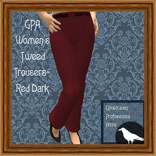 GPA Women's Trousers Tweed Red Dark Ad 512