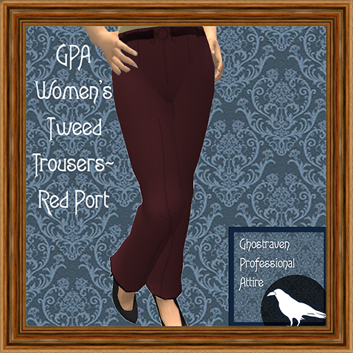 GPA Women's Trousers Tweed Red Port Ad 512