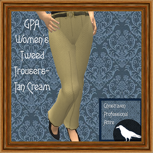 GPA Women's Trousers Tweed Tan Cream Ad 512