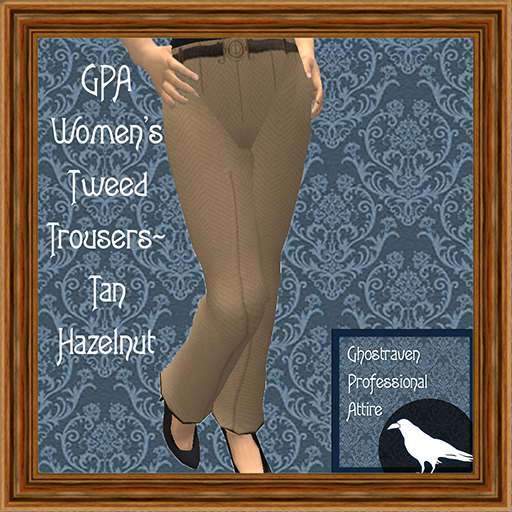 GPA Women's Trousers Tweed Tan Hazelnut Ad 512