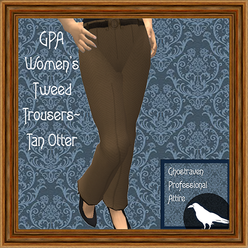 GPA Women's Trousers Tweed Tan Otter Ad 512