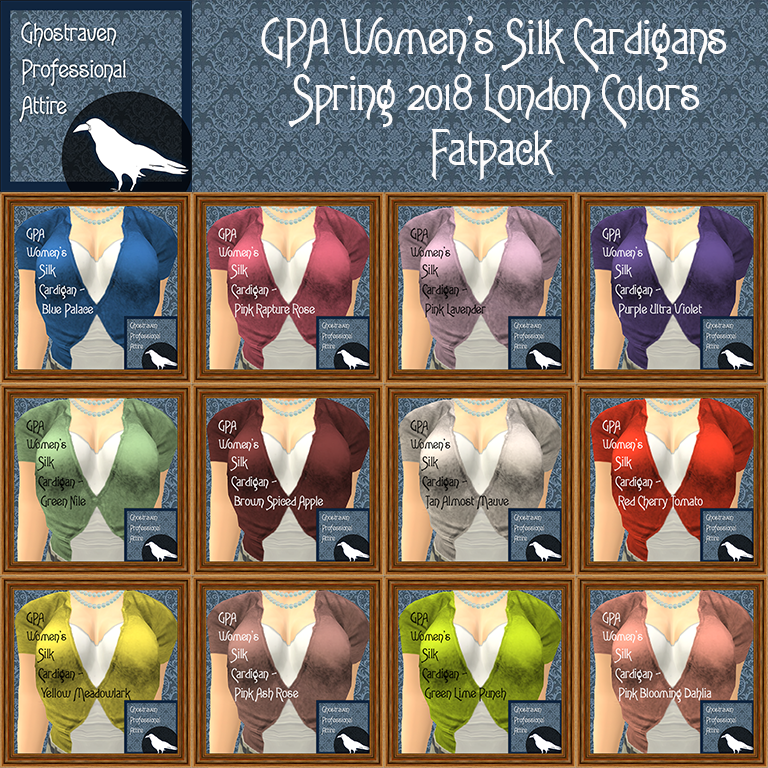GPA Womens Silk Cardigan Fatpack Ad Square Spring 2018 London