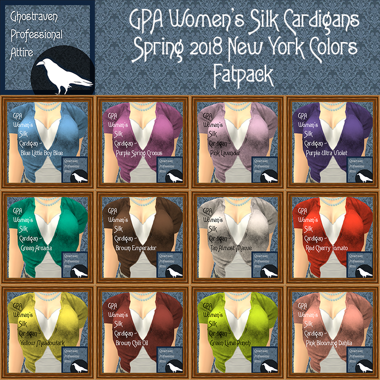 GPA Womens Silk Cardigan Fatpack Ad Square Spring 2018 NY