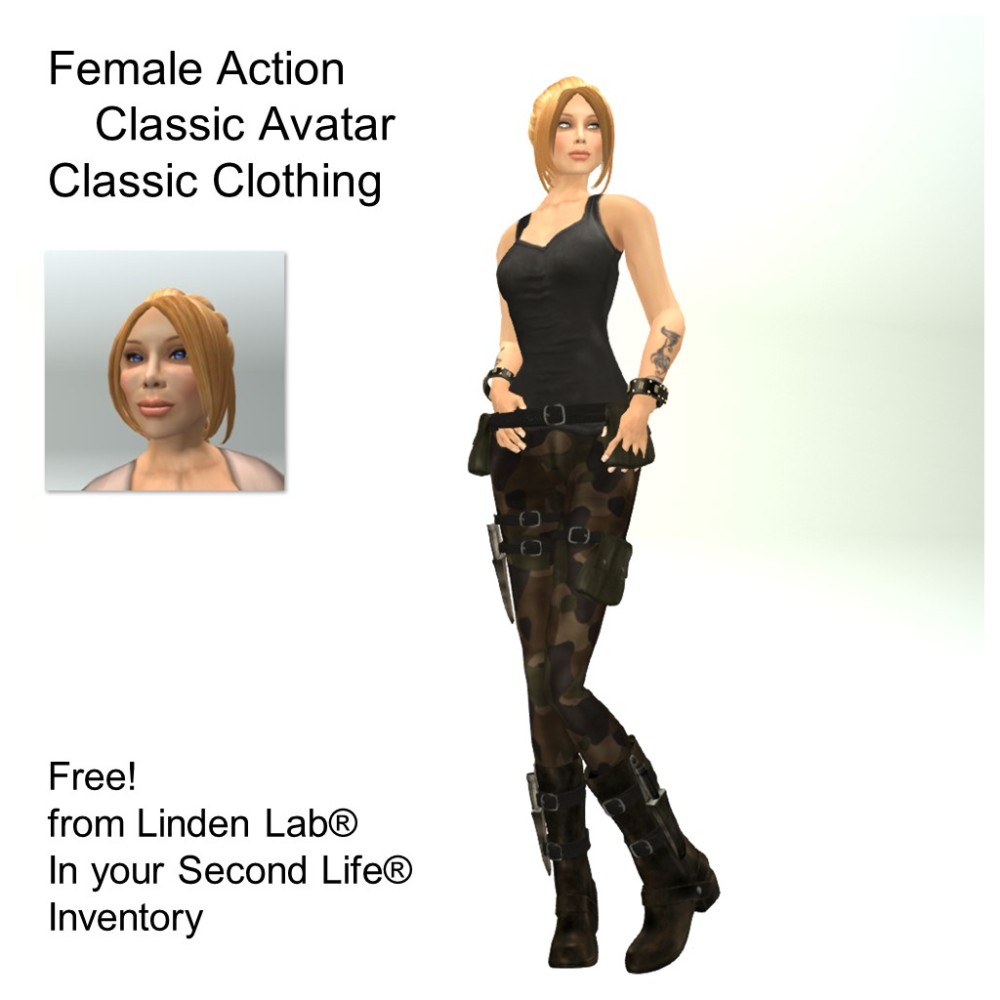 LL Avatar - Female - Female Action