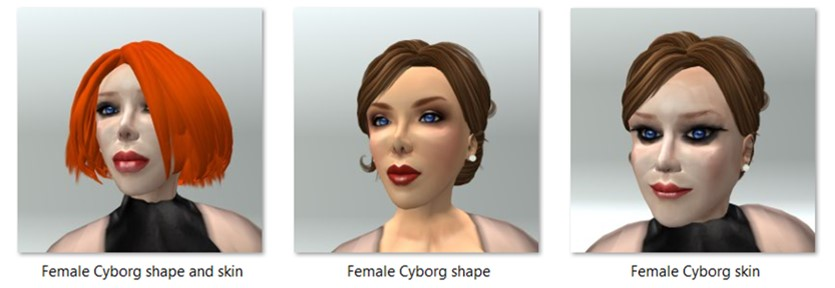 LL Avatar - Female - Female Cyborg