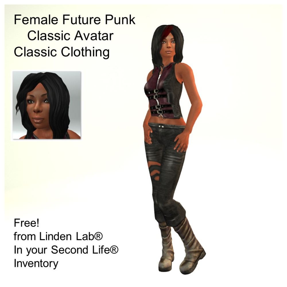LL Avatar - Female - Female Future Punk