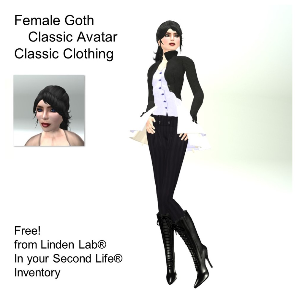 LL Avatar - Female - Female Goth