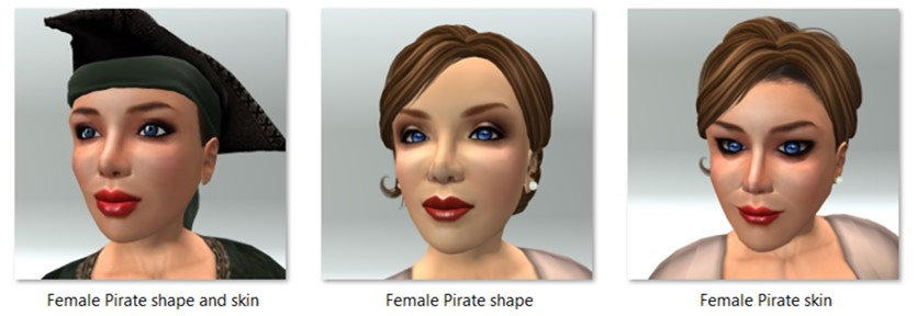 LL Avatar - Female - Female Pirate