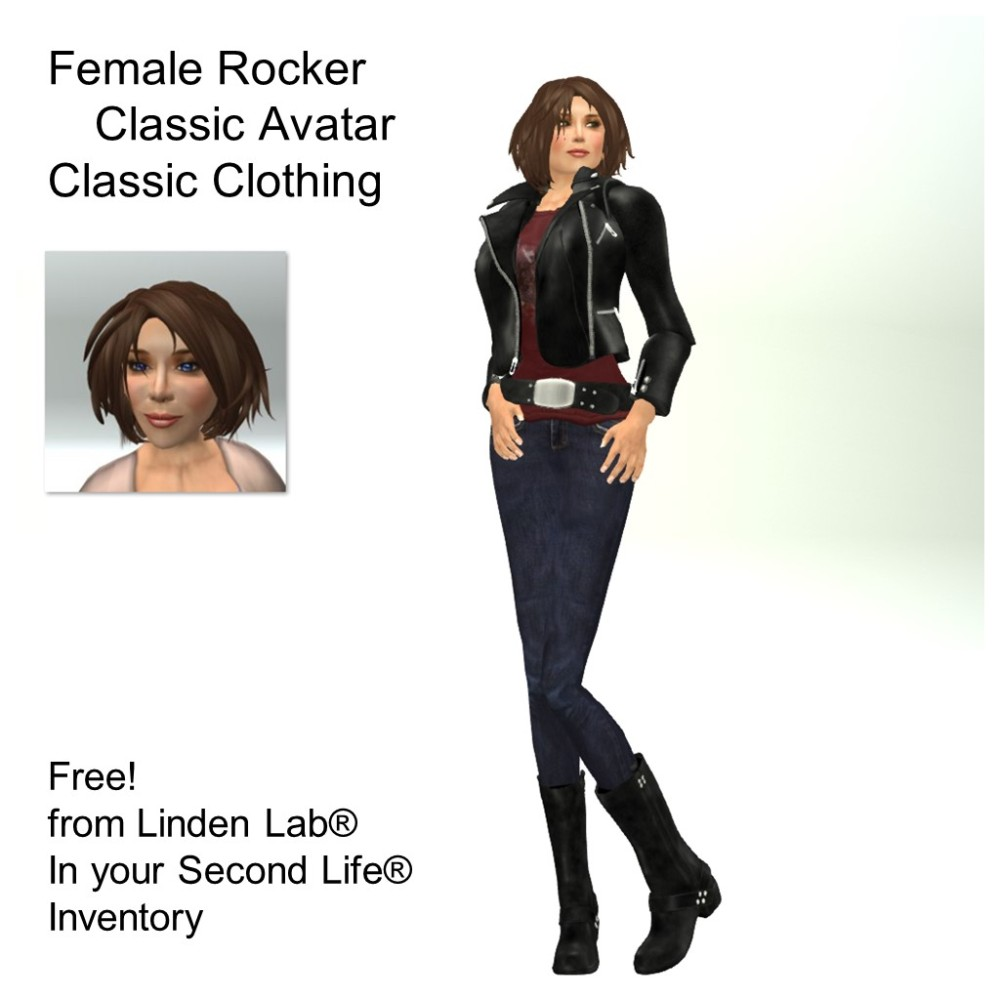 LL Avatar - Female - Female Rocker