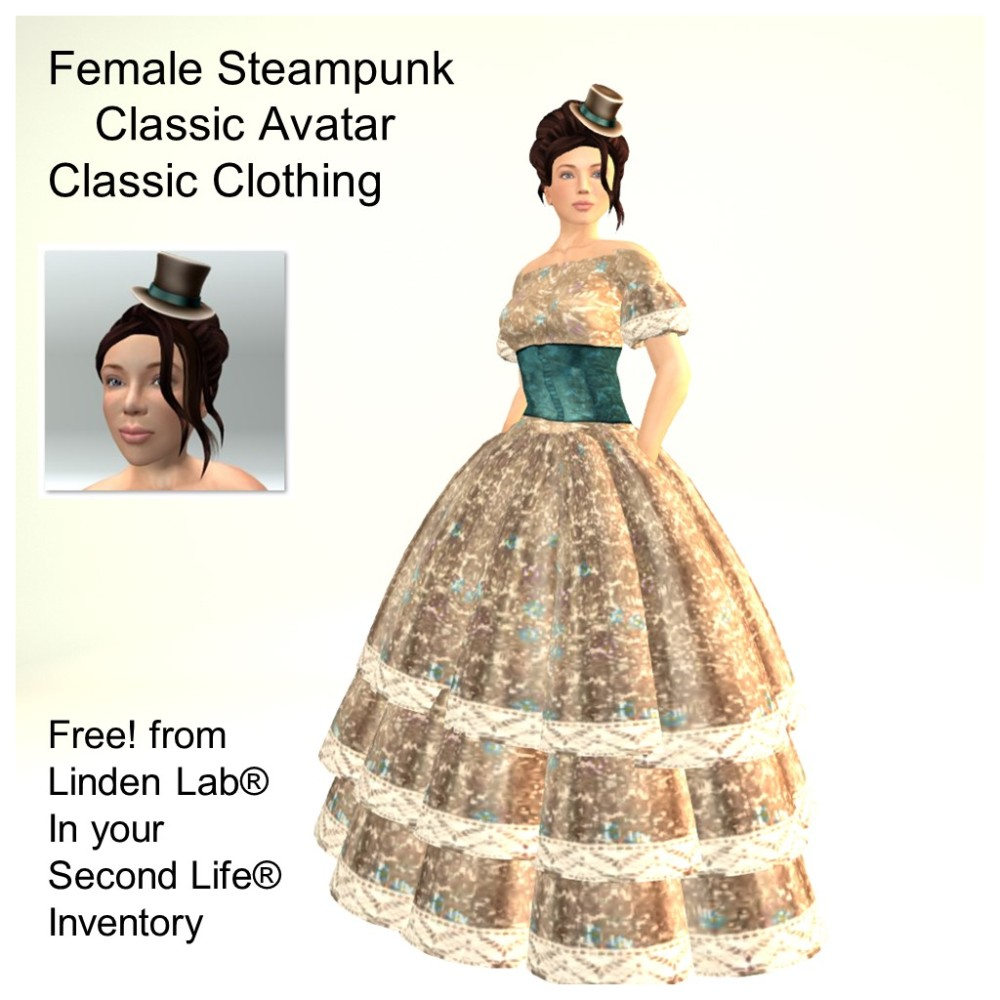 LL Avatar - Female - Female Steampunk