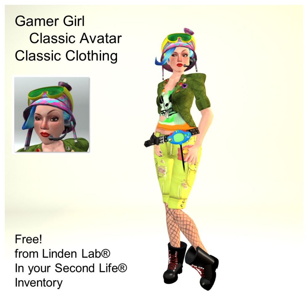 LL Avatar - Female - Gamer Girl