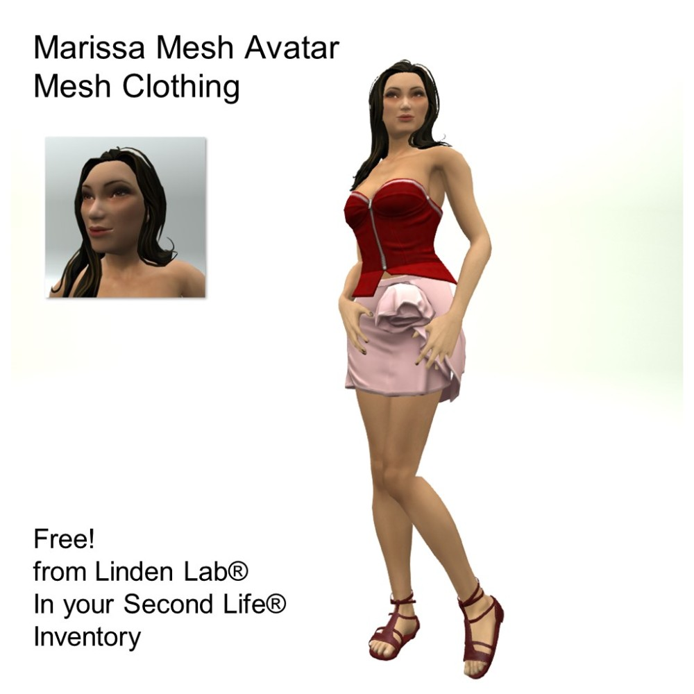 LL Avatar - Female Mesh - Marissa