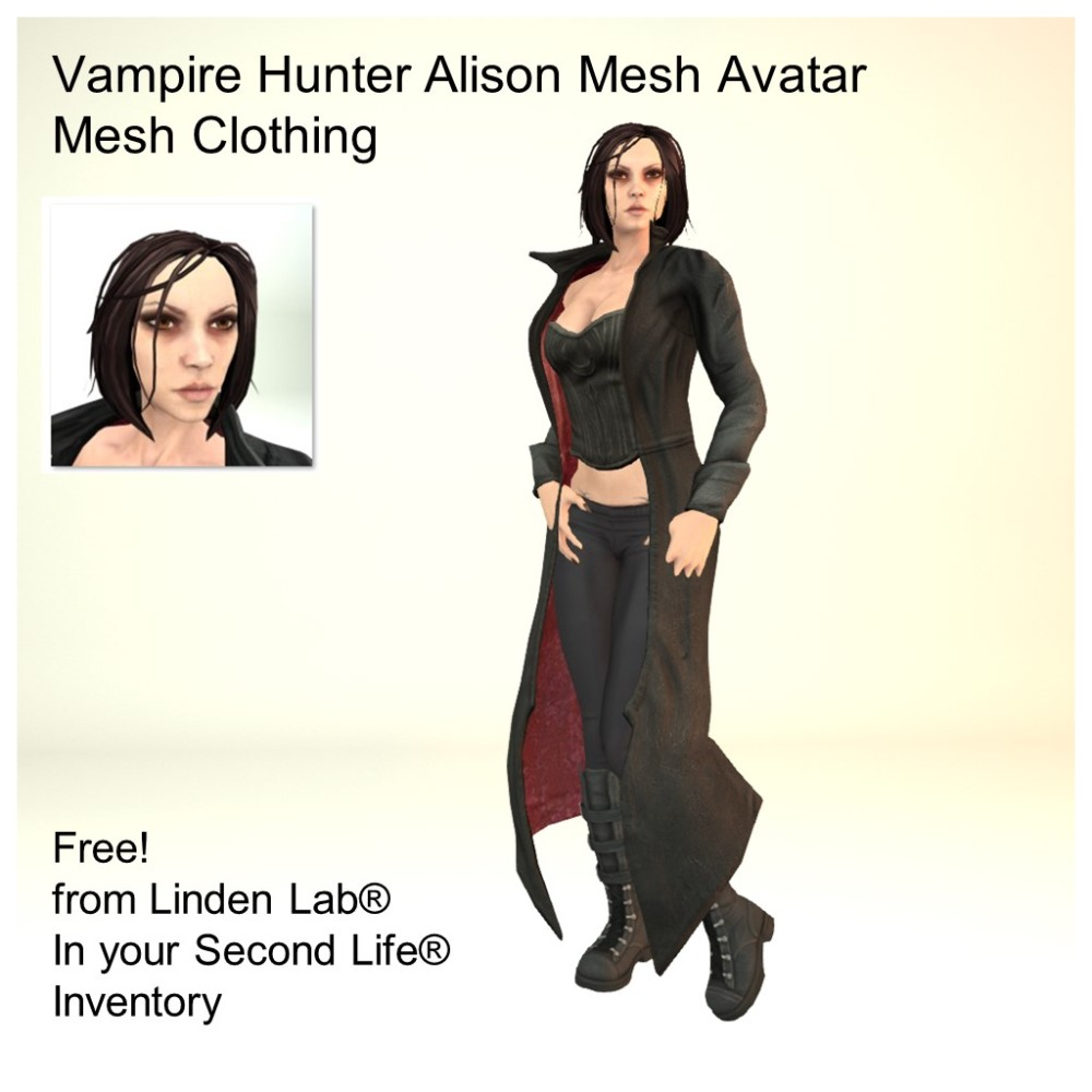 LL Avatar - Female Mesh - Vampire Hunter Alison