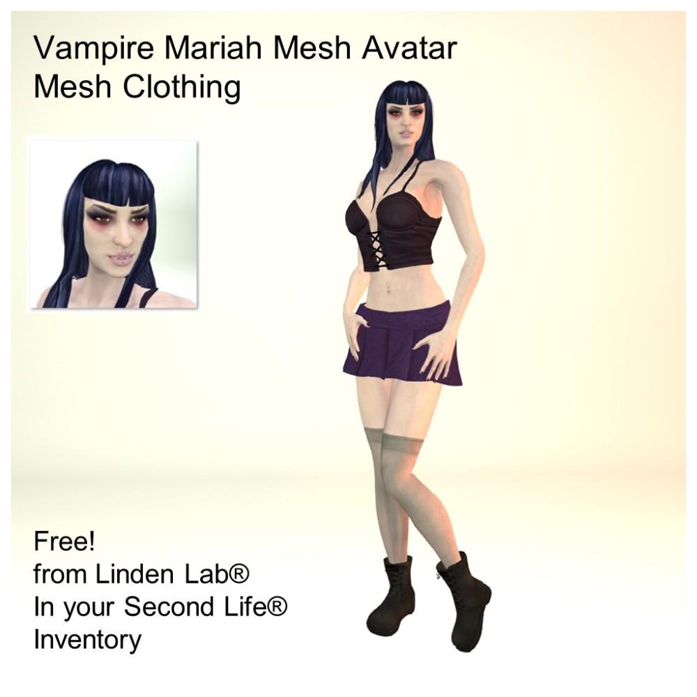 LL Avatar - Female Mesh - Vampire Mariah