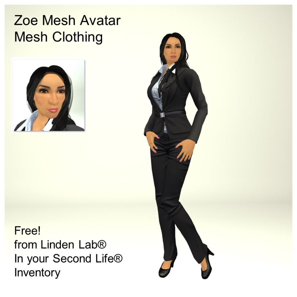 LL Avatar - Female Mesh - Zoe