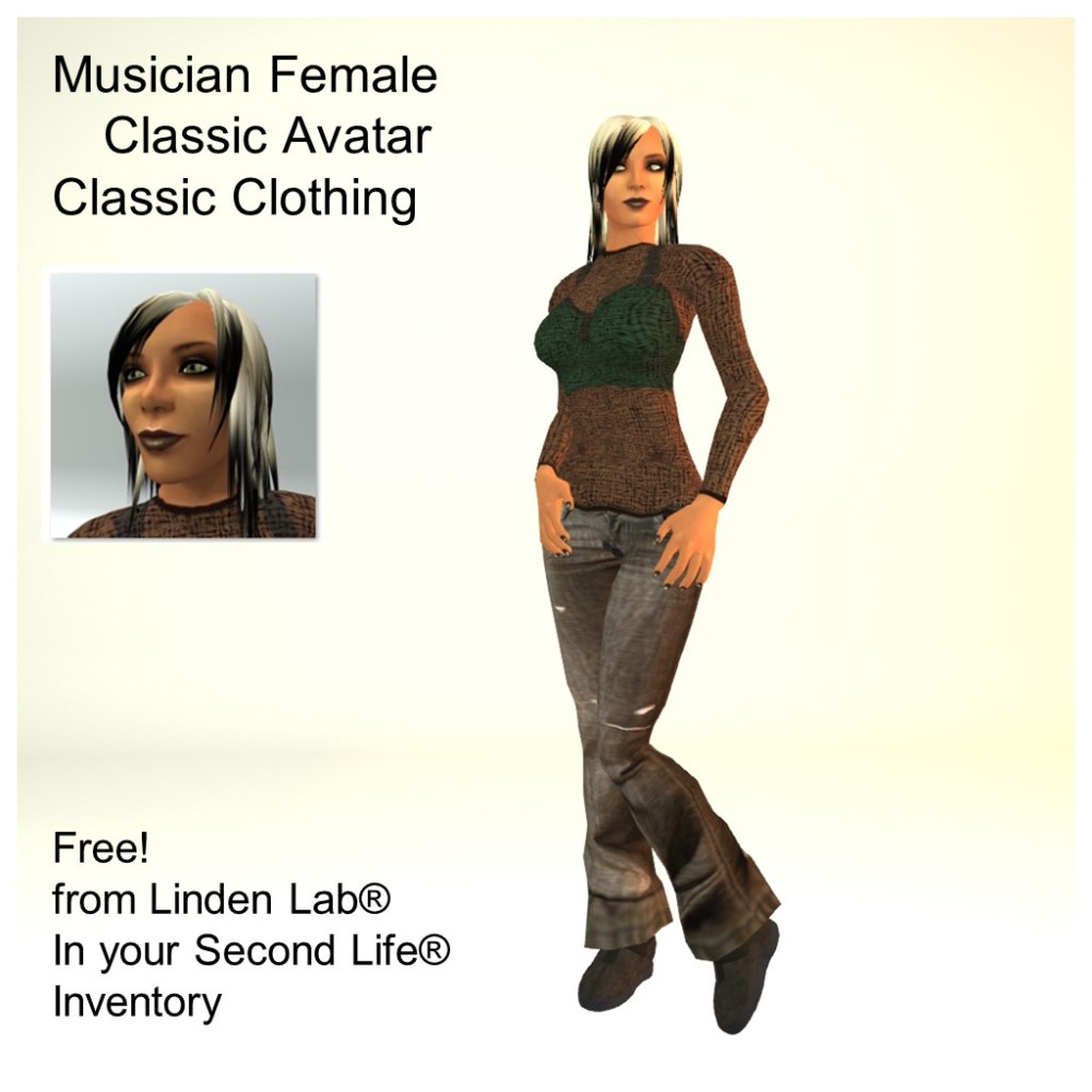 LL Avatar - Female - Musician Female