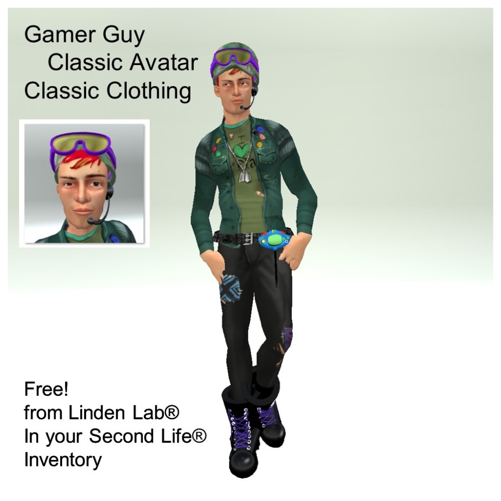 LL Avatar - Male - Gamer Guy