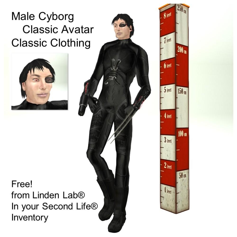 LL Avatar - Male - Male Cyborg