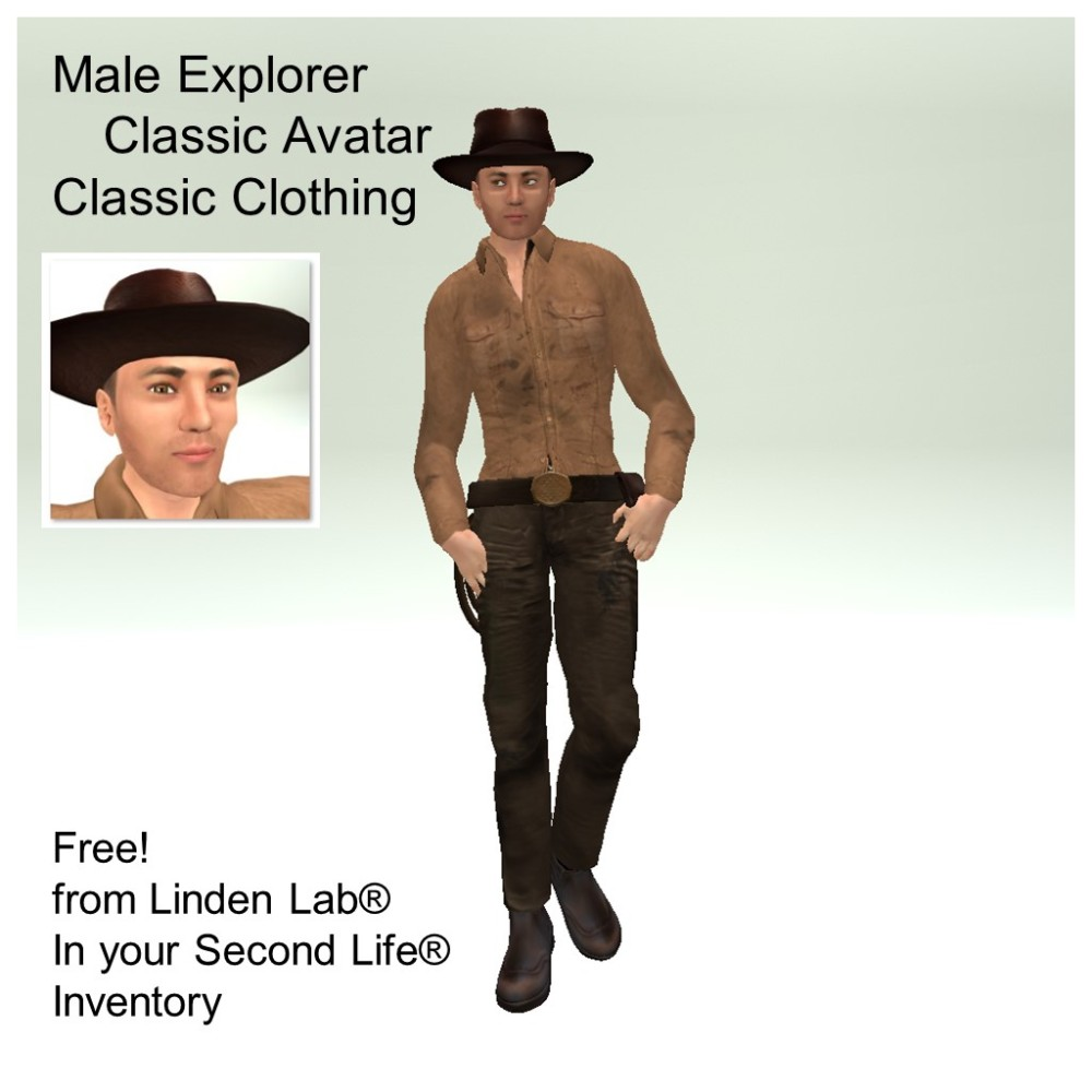 LL Avatar - Male - Male Explorer