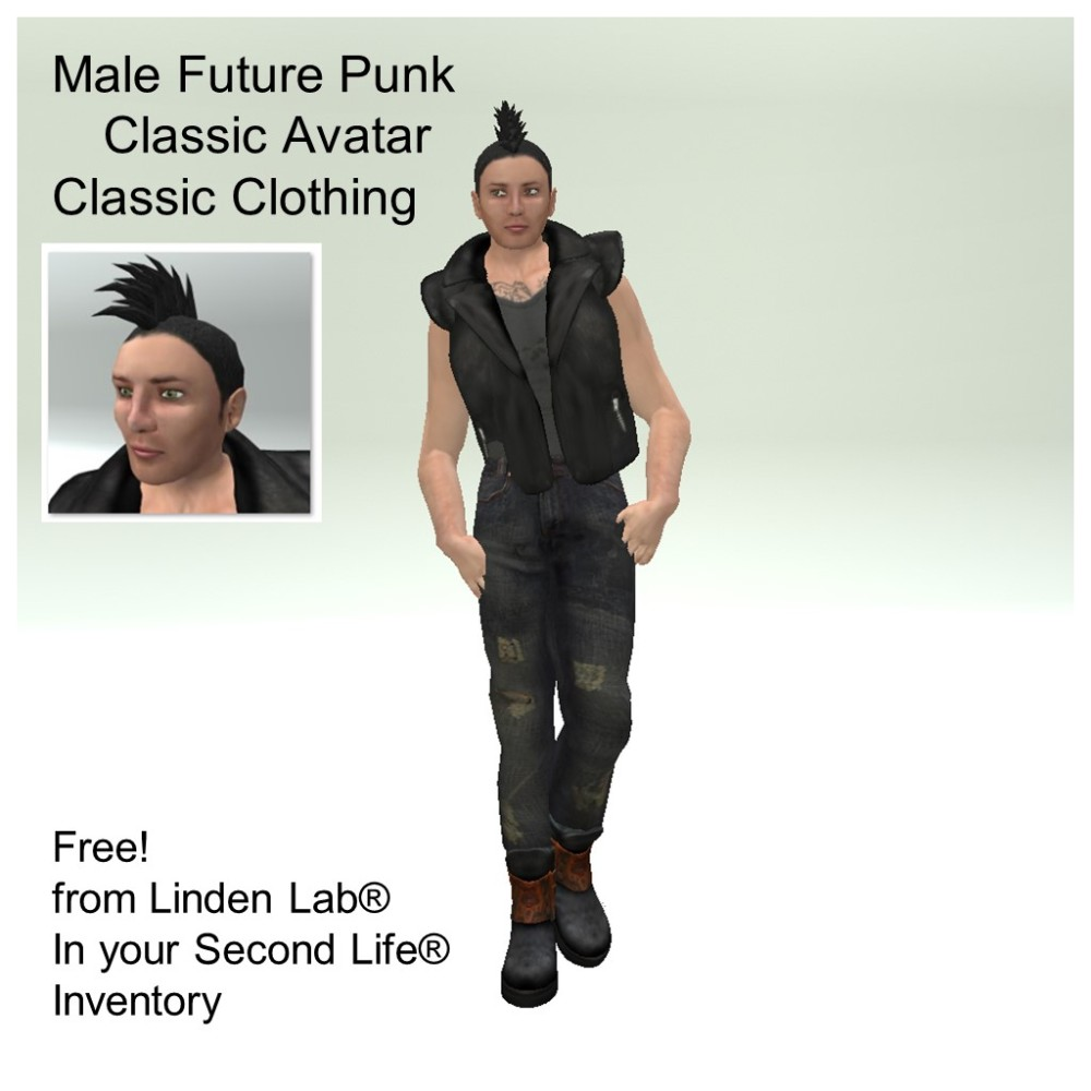 LL Avatar - Male - Male Future Punk