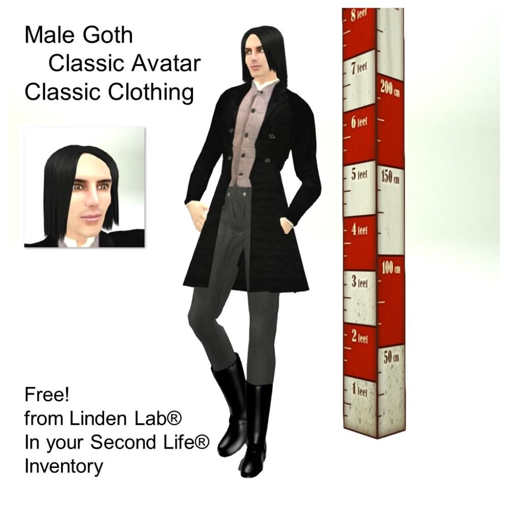 LL Avatar - Male - Male Goth