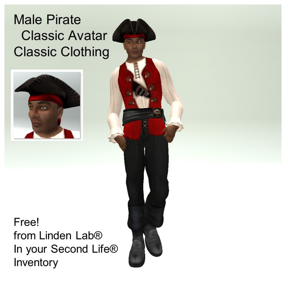 LL Avatar - Male - Male Pirate