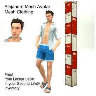 LL Avatar - Male Mesh - Alejandro