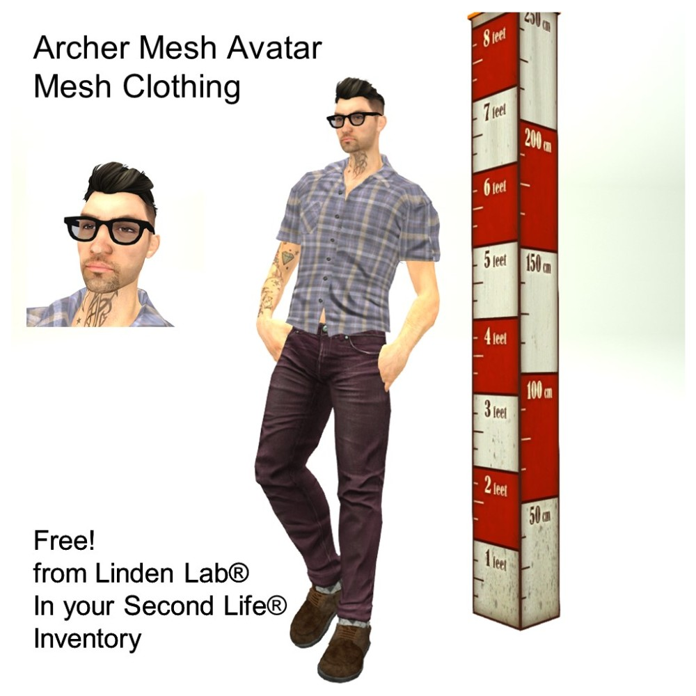 LL Avatar - Male Mesh - Archer