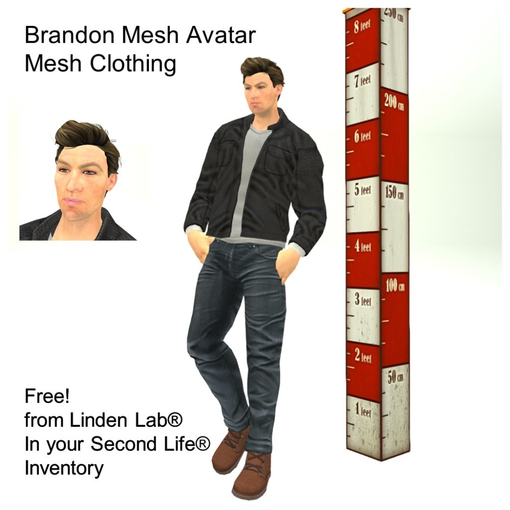 LL Avatar - Male Mesh - Brandon