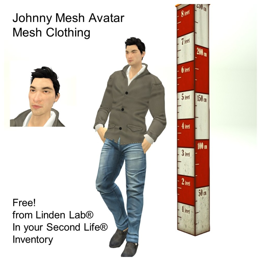 LL Avatar - Male Mesh - Johnny