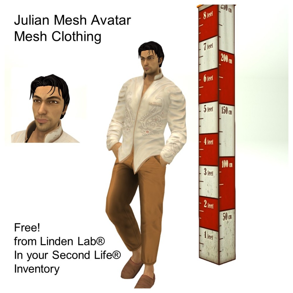 LL Avatar - Male Mesh - Julian