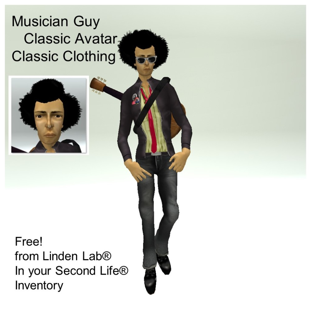 LL Avatar - Male - Musician Guy