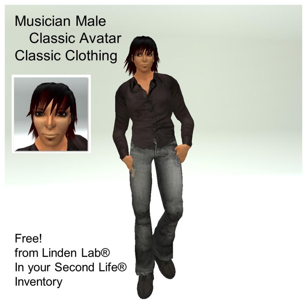 LL Avatar - Male - Musician Male