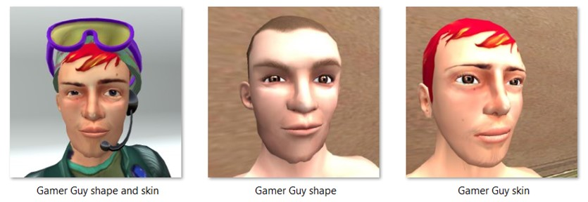 LL Faces - Male - Gamer Guy