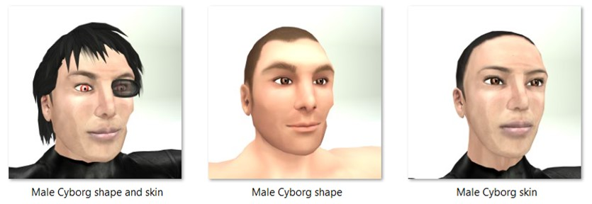 LL Faces - Male - Male Cyborg