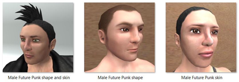 LL Faces - Male - Male Future Punk